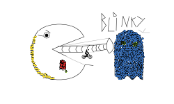 pacman inky and blinky