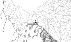 Wild crumbling mountain