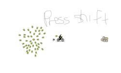 press shift