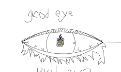 good eye-bad eye