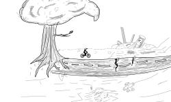 An abandoned world