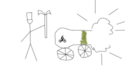 cannon shooting a free rider