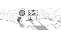 Windy Desert