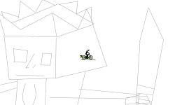 3d King drawing (zoom out)