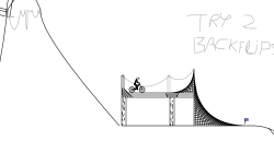 MTB long jumps track (dirt)