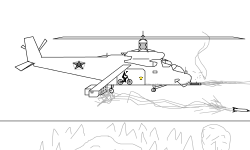 Made-up Attack Helicopter