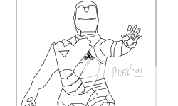 My First Drawing ( IRON MAN )